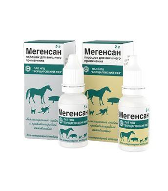 Ветеринарний комбінований антимікробний препарат Мегенсан