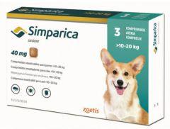Симпарика 40 мг 3 шт, жевательные таблетки для собак 10-20 кг (Zoetis) в Таблетки от блох и клещей.