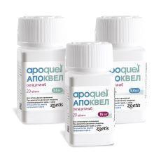 Апоквел 3,6 мг 10 таб (Zoetis) в Противовоспалительные ветпрепараты.