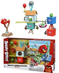 Игровая фигурка Jazwares Angry Birds ANB Medium Playset (Pig City Build 'n Launch Playset)